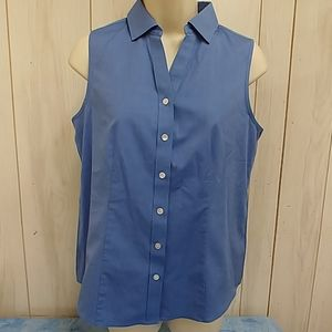 Shirt by Talbots.  Size 6.  Blue